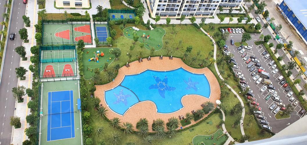 Tiện ích căn hộ Vinhomes Grand Park, Quận 9 Căn hộ Vinhomes Grand Park tầng 14, bàn giao đầy đủ nội thất và tiện ích.