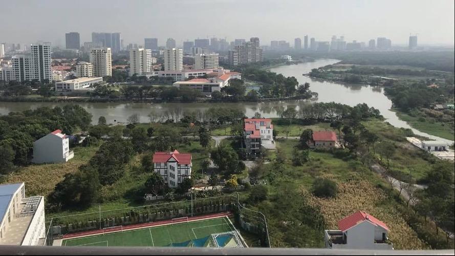 View Căn hộ Saigon South Residence tầng 12 cửa hướng Tây, đầy đủ nội thất.