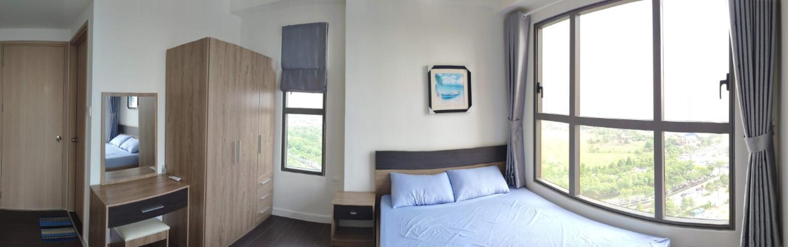 phòng ngủ căn hộ The Sun Avenue Căn hộ tầng 15 The Sun Avenue nội thất đầy đủ, cửa chính hướng Tây Nam