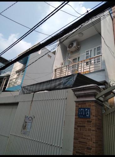 Nhà phố thiết kế 2 tầng đúc kiên cố, không có nội thất.