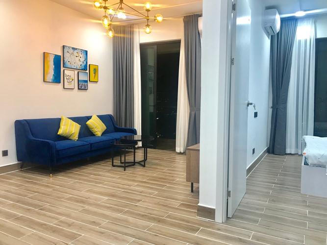 Căn hộ Feliz En Vista tầng 24 view đường Đồng Văn Cống, đầy đủ nội thất.