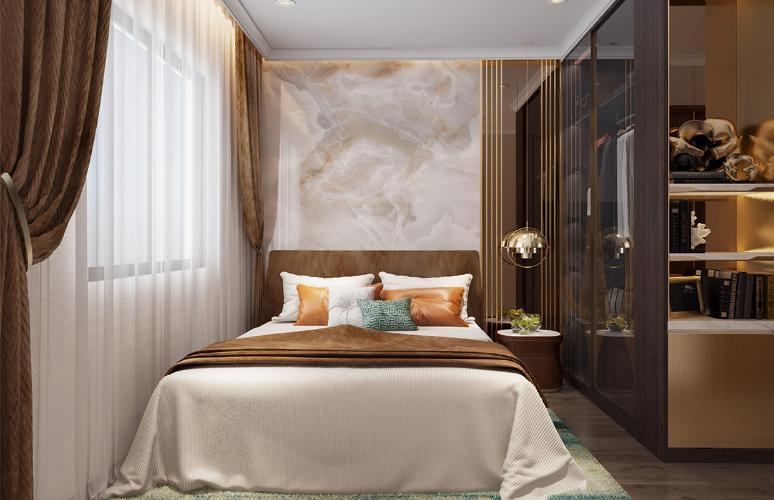 Phòng ngủ căn hộ Opal Boulevard, Huyện Dĩ An Căn hộ Opal Boulevard tầng 10 gồm 3 phòng ngủ, nội thất cơ bản.
