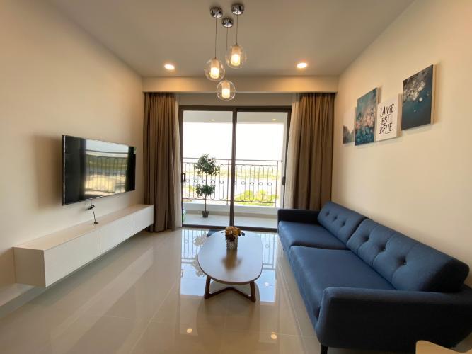 Phòng khách căn hộ Saigon Royal Căn hộ Saigon Royal 2 phòng ngủ, view hướng hồ bơi thoáng mát.