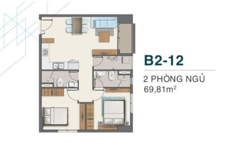 Căn hộ Q7 Boulevard ban công thoáng mát cùng nội thất cơ bản.