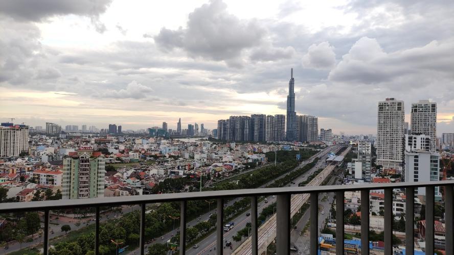Ban công Masteri Thảo Điền, Quận 2 Căn hộ Masteri Thảo Điền tầng cao, view Xa Lộ Hà Nội.
