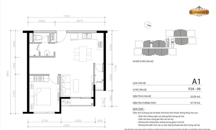 Căn hộ The Pegasuite 2 thiết kế hiện đại và kỹ lưỡng, nội thất cơ bản.