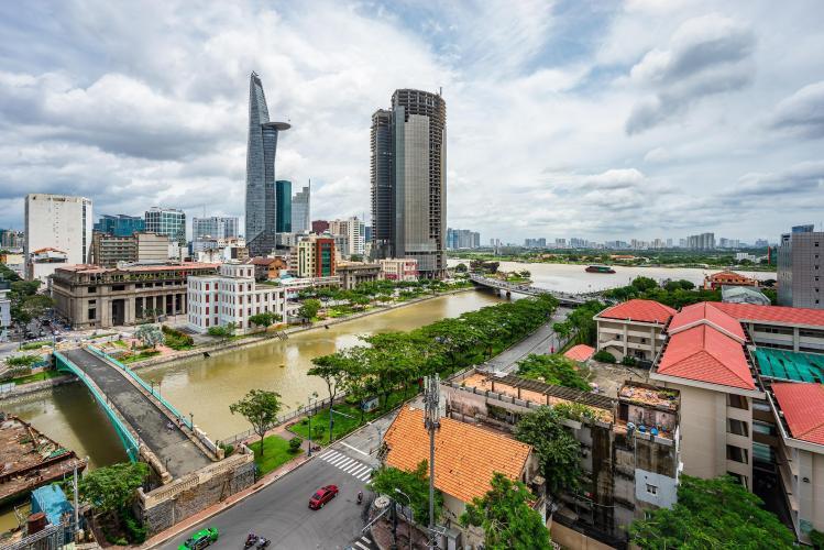 View căn hộ Saigon Royal, Quận 4 Căn hộ Saigon Royal tầng 15 diện tích 85m2, bàn giao đầy đủ nội thất.