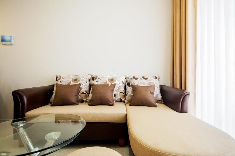 Phòng khách Masteri Millennium Quận 4 Căn hộ Masteri Millennium tầng cao, ban công thông thoáng.