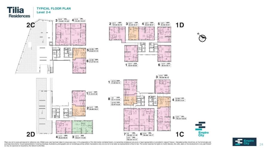 Mặt bằng chung căn hộ Empire City, Quận 2 Căn hộ cao cấp tầng 2 Empire City nội thất cơ bản, tiện ích đa dạng.