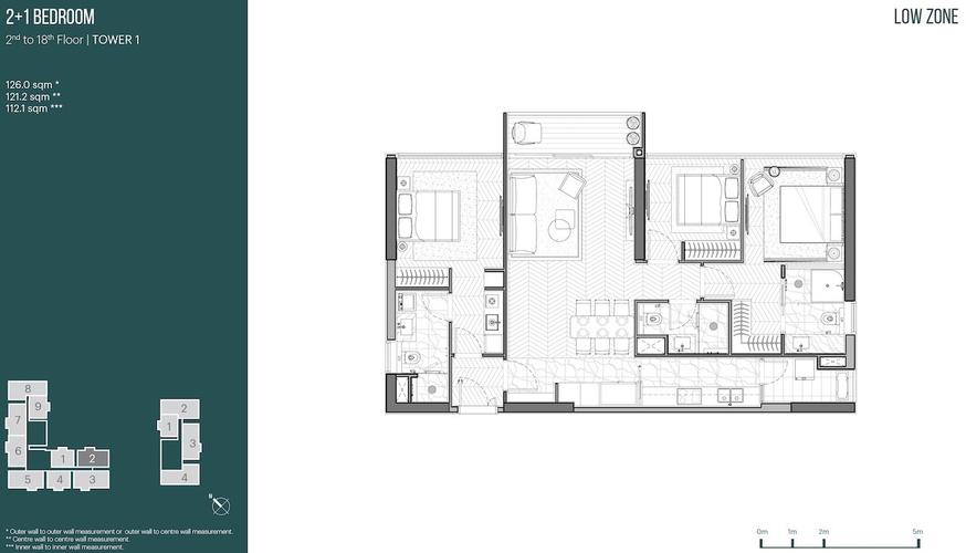 Căn hộ Empire City tầng 7 thiết kế hiện đại, tiện ích đầy đủ và đa dạng.