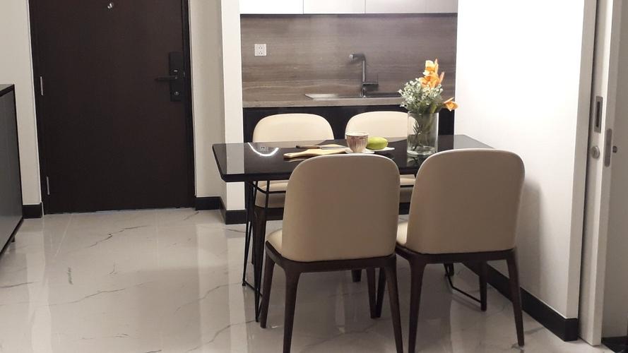 Khu vực bàn ăn căn hộ Empire City, Quận 2 Căn hộ Empire City tầng 4 thiết kế 1 phòng ngủ, đầy đủ nội thất.