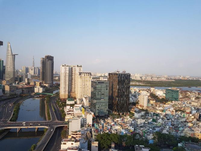 View căn hộ Masteri Millennium, Quận 4 Căn hộ Masteri Millennium tầng 30 diện tích 71m2, đầy đủ nội thất.