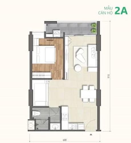 Layout Ricca Quận 9 Căn hộ tầng trung Ricca thoáng mát, nội thất cơ bản.