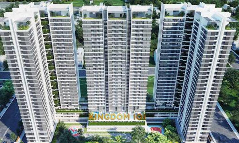Căn hộ Kingdom 101, Quận 10 Căn hộ Kingdom 101 tầng 17 diện tích 50m2, ban công đón gió thoáng mát.