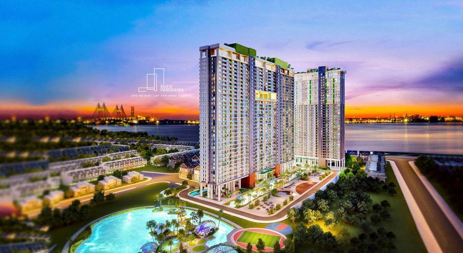 building căn hộ river panorama Căn hộ tầng trung River Panorama ban công hướng Nam thoáng đãng.