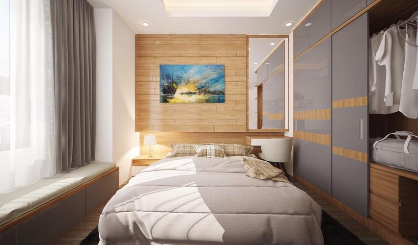 Phòng ngủ Saigon South Residence Căn hộ Saigon South Residence tầng 12 cửa hướng Tây, đầy đủ nội thất.