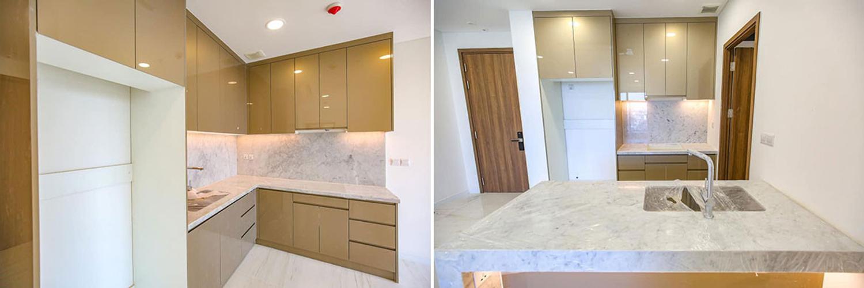 Căn hộ Kingdom 101 tầng 15 thiết kế kỹ lưỡng, đầy đủ nội thất và tiện ích.
