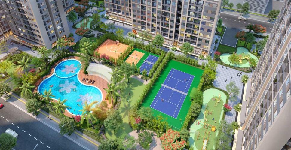hình ảnh nhà mẫu dự án Masteri Centre Point quận 9 Căn hộ Masteri Centre Point tầng trung, ban công hướng Đông Nam.