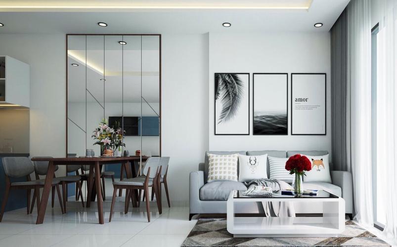 Căn hộ HaDo Centrosa Garden tầng 17 diện tích 56m2, đầy đủ nội thất.