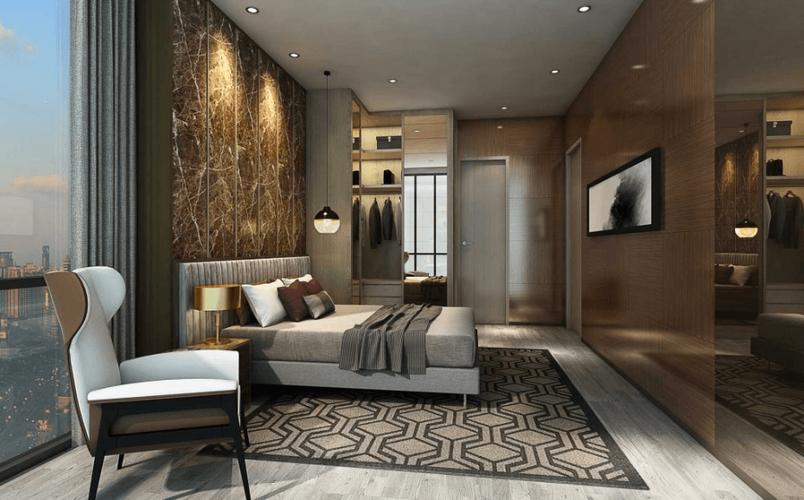 Nhà mẫu căn hộ Empire City, Quận 2 Căn hộ Empire City tầng 4 diện tích 93.2m2, nội thất cơ bản.