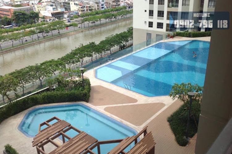 Tiện ích căn hộ The Gold View, Quận 4 Căn hộ The Gold View tầng 31 diện tích 80m2, đầy đủ nội thất.