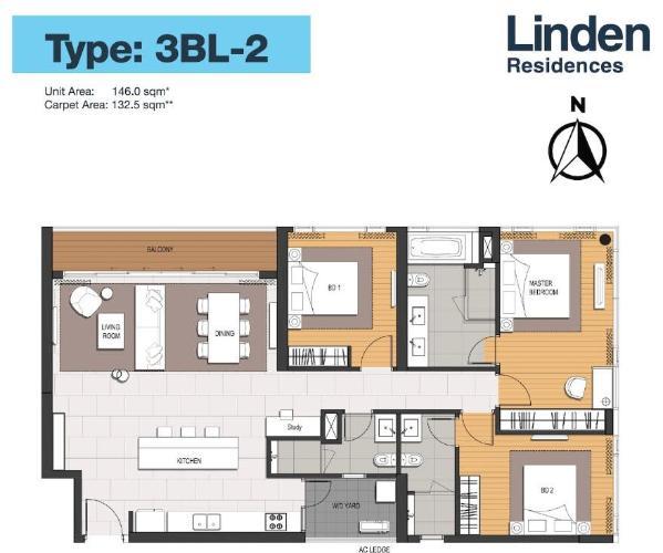 Căn hộ Empire City tầng 4 thiết kế kỹ lưỡng, nội thất cơ bản.