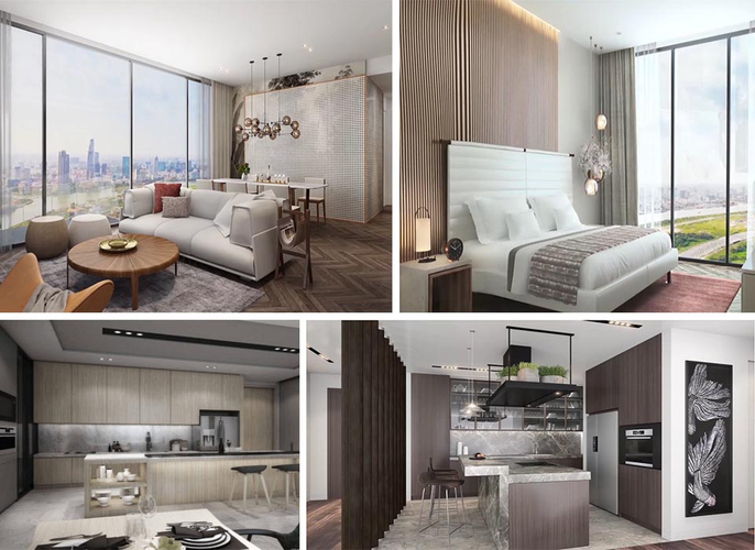 Nhà mẫu căn hộ Empire City, Quận 2 Căn hộ Empire City tầng 20 thiết kế 2 phòng ngủ, đầy đủ nội thất.