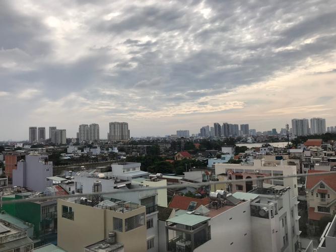 View căn hộ Green Field 686, Quận Bình Thạnh Căn hộ Green Field 686 tầng 8 cửa hướng Nam, view thành phố sầm uất.