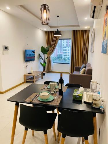 không gian căn hộ New City Thủ Thiêm quận 2 Căn hộ tầng 06 New City Thủ Thiêm bàn giao nội thất đầy đủ