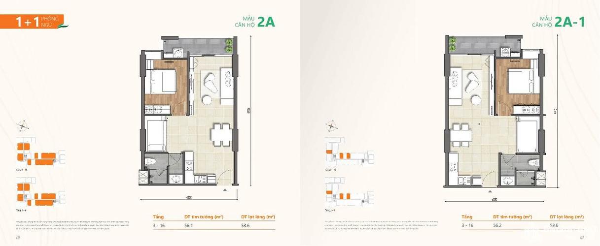 Căn hộ Ricca tầng 13 thiết kế 1 phòng ngủ, bàn giao nội thất cơ bản.