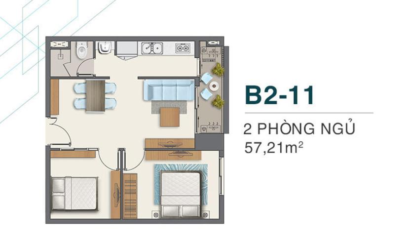Căn hộ Q7 Boulevard tầng 20 nội thất cơ bản, tiện ích đa dạng.