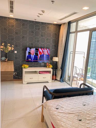 Căn hộ Vinhomes Central Park, Quận Bình Thạnh Studio Vinhomes Central Park tầng 19 thiết kế 1 phòng ngủ, đầy đủ nội thất.