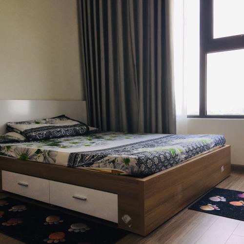 Phòng ngủ Vinhomes Grand Park Quận 9 Căn hộ Vinhomes Grand Park tầng trung, đầy đủ nội thất.