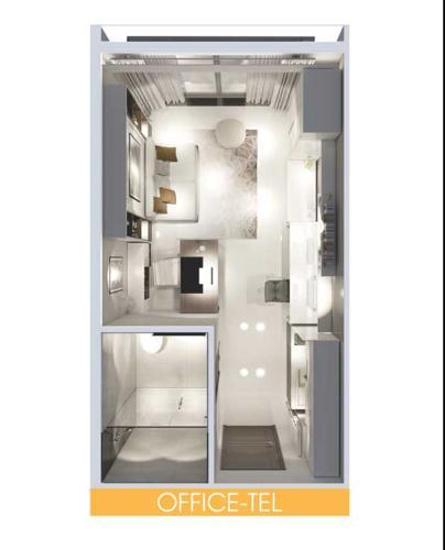 Mặt bằng căn hộ Officetel Lavida Plus Officetel Lavida Plus quận 7, diện tích 37m2 - 1 phòng ngủ, không có nội thất.