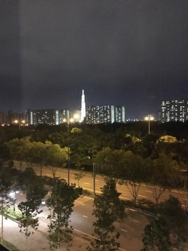 view cảnh căn hộ The Sun Avenue Căn hộ nội thất đầy đủ The Sun Avenue view nội khu.