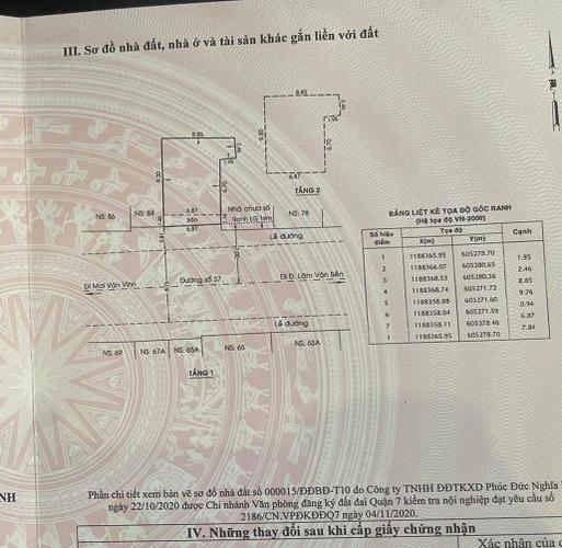 Bản vẽ mặt bằng kinh doanh Quận 7 Mặt bằng kinh doanh diện tích 78.4m2 thiết kế  1 trệt, 1 lầu thông thoáng.