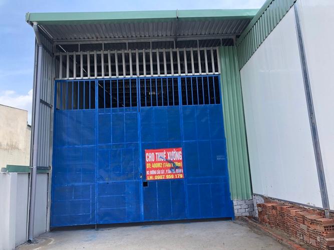 Nhà xưởng kho bãi Quận 9 Nhà xưởng kho bãi diện tích 400m2, thuận tiện cho các ngành nghề sản xuất.