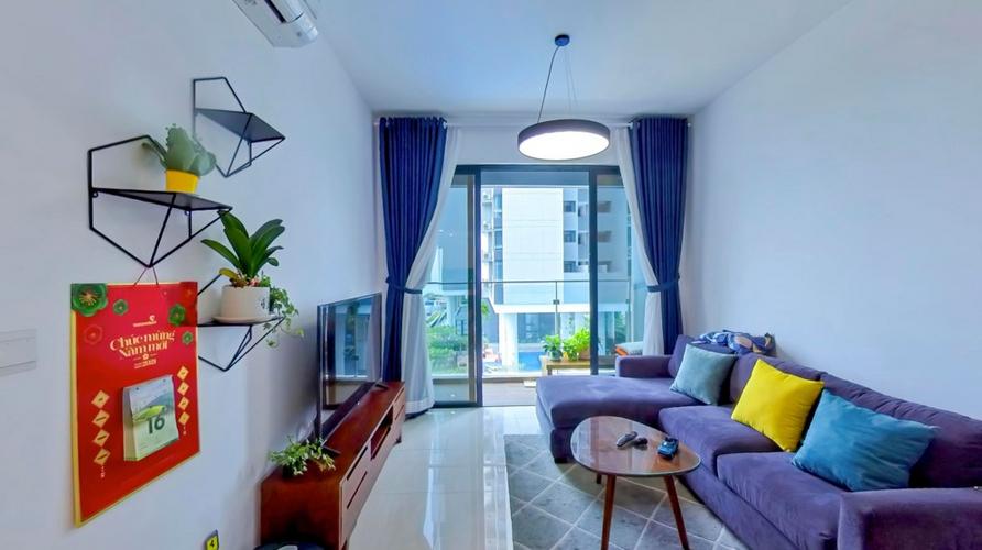 Căn hộ One Verandah tầng 4 thiết kế 2 phòng ngủ, nội thất cơ bản.