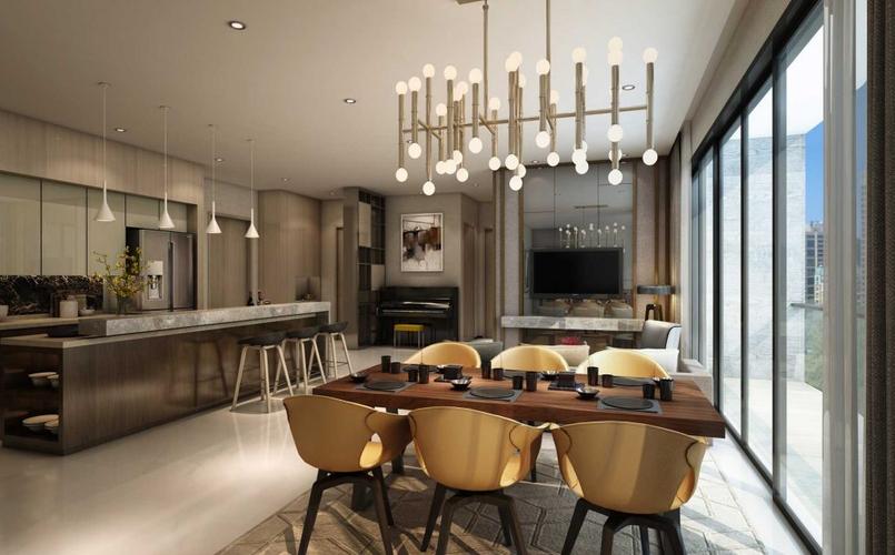 Nhà mẫu căn hộ Empire City, Quận 2 Căn hộ Empire City tầng 21 diện tích 154.33m2, cửa hướng Đông Nam.