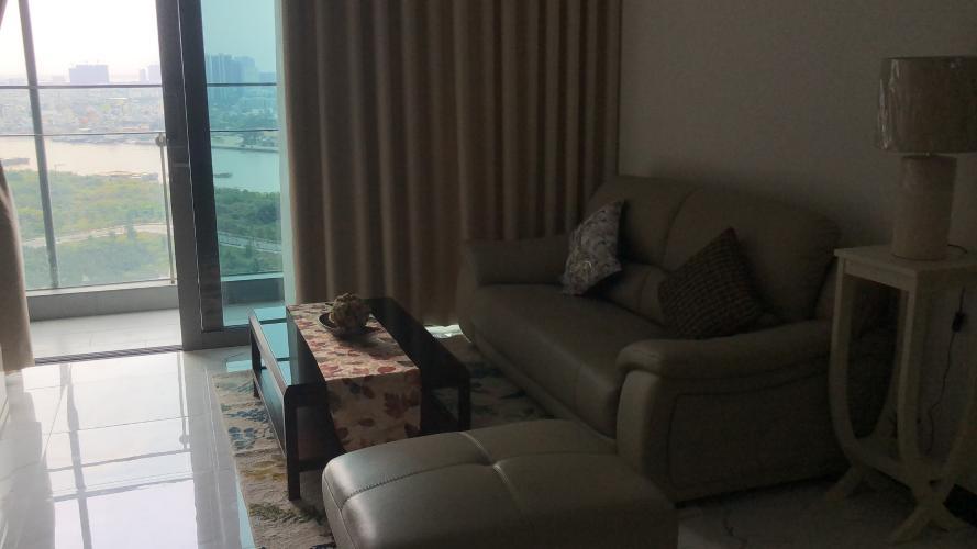 Phòng khách Empire City, Quận 2 Căn hộ Empire City tầng cao, view sông Sài Gòn