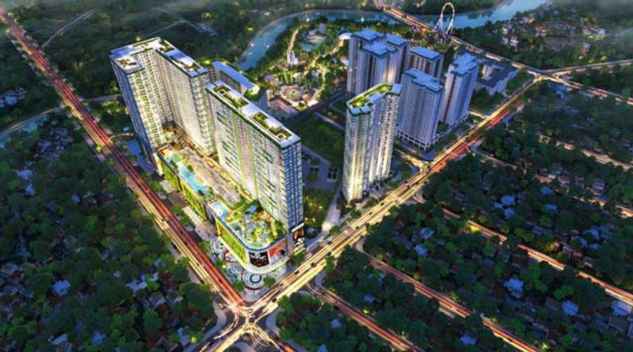 Topaz Elite quận 8 Căn hộ tầng 24 Topaz Elite không có nội thất, view nhìn thành phố thoáng gió