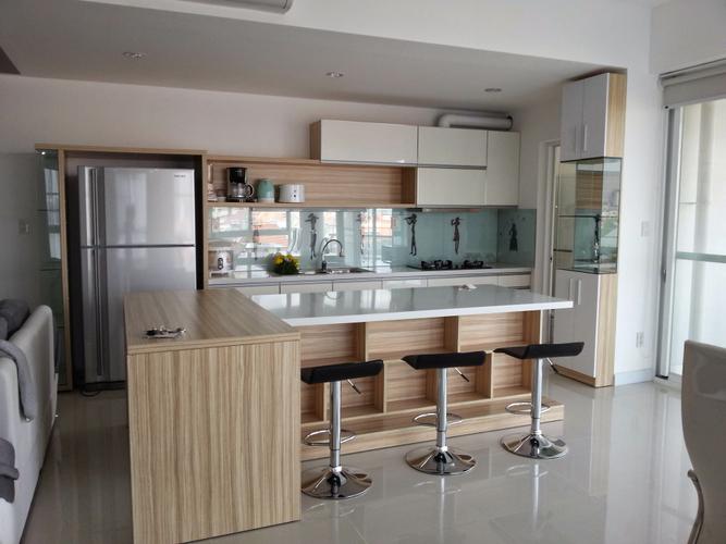 Phòng bếp căn hộ Riverpark Residence, Quận 7 Căn hộ RiverPark Residence tầng 2 tiện di chuyển, đầy đủ nội thất.
