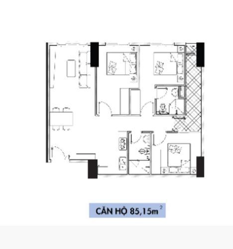 Layout căn hộ Topaz Elite, Quận 8 Căn hộ Topaz Elite tầng 15 nội thất cơ bản, đầy đủ tiện ích.