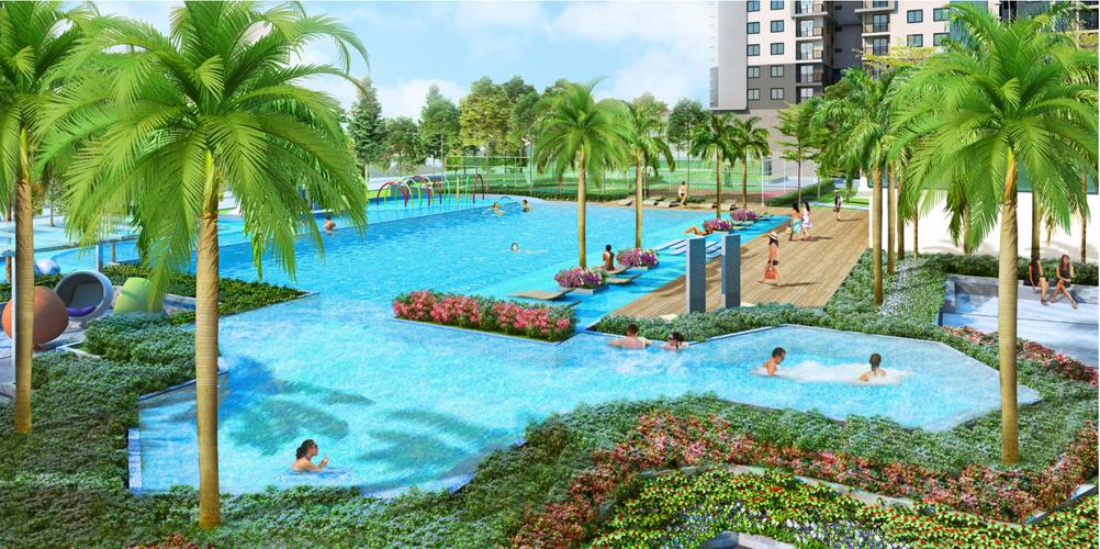 Tiện ích Saigon South Residence Căn hộ Saigon South Residence tầng 24 diện tích 74.77m2, đầy đủ nội thất.