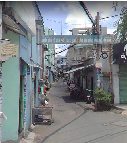Đường trước nhà phố Quận Tân Phú Nhà phố diện tích 72m2 thiết kế 1 trệt, 1 lầu, khu vực đầy đủ tiện ích.