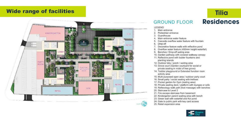 Tiện ích căn hộ Empire City, Quận 2 Căn hộ Empire City tầng 21 diện tích 63.79m2, đầy đủ nội thất cao cấp.