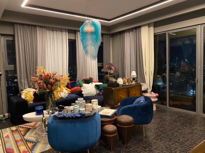 Phòng khách căn hộ Gateway Thảo Điền, Quận 2 Căn hộ Gateway Thảo Điền nội thất nhập khẩu, được đăng trên tạp chí Elle Decoration 2019