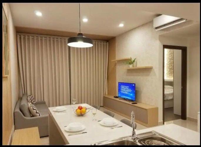 Căn hộ The Tresor tầng 33 thiết kế 2 phòng ngủ, đầy đủ nội thất.