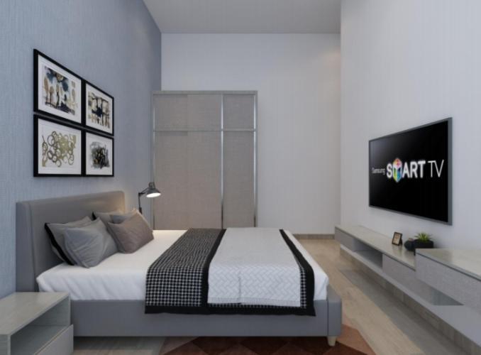 Phòng ngủ căn hộ Riviera Point Căn hộ Riviera Point tầng 3 nội thất đầy đủ, view thành phố.