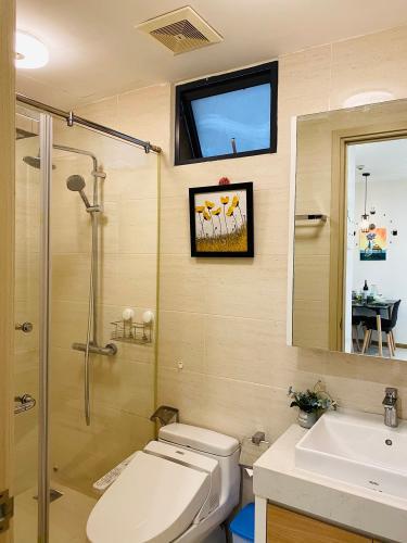 nhà tắm New City Thủ Thiêm quận 2 Căn hộ tầng 06 New City Thủ Thiêm bàn giao nội thất đầy đủ